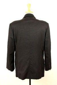Mens Charcoal Donna Karan Jacket Blazer Sport Coat Pinstripe Large 43