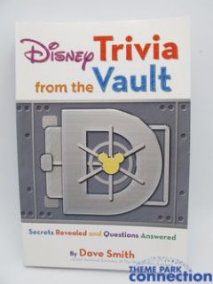 Disney Legend Dave Smith Signed Trivia from The Vault Autographed 1st