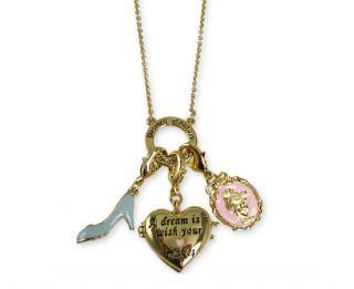 NEW DISNEY COUTURE JEWELRY Cinderella CHARM Heart Locket Slipper