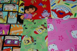 Disney Nickelodeon Saniro Gift Wrap Wrapping Paper Various Characters