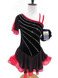 Ice Skating Dance Twirling Costume Dress Child S (7 8)
