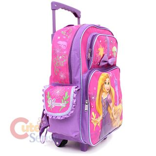 Disney Princess Tangled Rapunzel School Roller Backpack Rolling 3