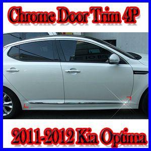 Chrome Door Side Trim Molding for 2011 2012 Kia Optima