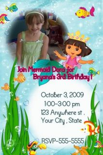 Dora Halloween Birthday Party Invitations Favors