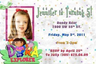 Dora Personalized Pool Party Birthday Invitation w Enve