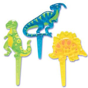 Dinosaur Puffy Cupcake Picks Cake Decorations Topper 24