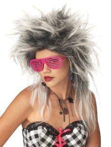 70305 Divine Punk Rock Black White 80s Style Long Straight Halloween