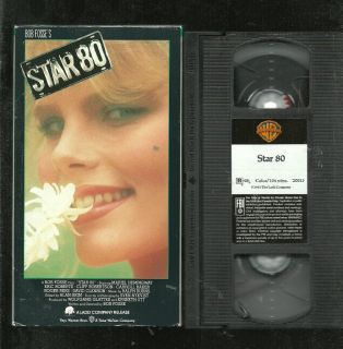 Star 80 VHS Mariel Hemingway Dorothy Stratten Warner Bros Home Video