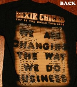 Vintage Sale $14 Delivered Dixie Chicks Tour 2003 Rock Concert T Shirt