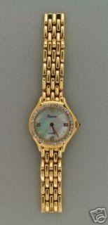Panther Link Ladies Diamond Quartz Wrist Watch Pearl Sapphire