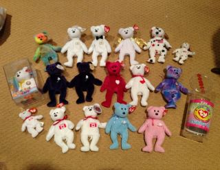 Beanie Babies Bears Original Retired Princess Diana PVC Clubby Garcia