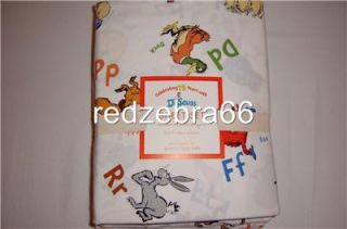 Pottery Barn Kids Dr Seuss 4 PC Full Sheet Set New NIP