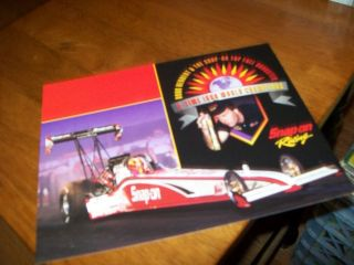 NHRA IHRA Doug Herbert Snap on Top Fuel Dragster Handout