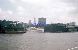 Slide Cunard Line French Line Docks New York City SS Giresun