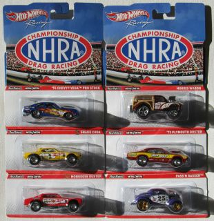 Hot Wheels Racing NHRA Championship Drag Racing Cars Release 1 Set of