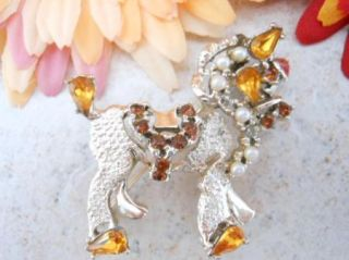 Vintage Gold Tone Dodds Signed Faceted Rhinestone Horse Pony Brooch