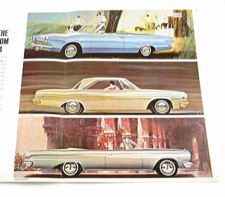 1964 64 Dodge Brochure Dart 270 Polara 400 Custom 880
