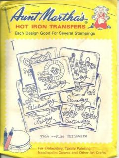 Aunt Marthas Iron Transfers Fine Chinaware 3764 Dow