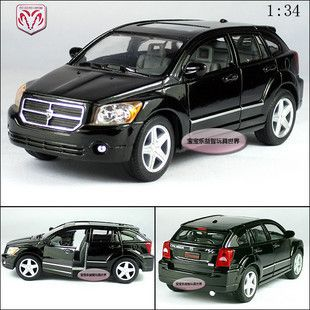 New Dodge Caliber 1 34 Alloy Diecast Model Car Black B364