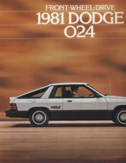1981 Dodge 024 Omni DeTomaso Sales Brochure Book