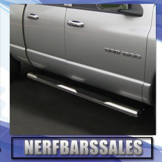 2009 2011 Dodge RAM 1500 Quad Cab Stainless Side Step 4 Oval Nerf