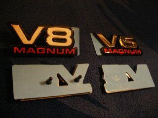 Dodge RAM Dakota Durango V6 V8 Magnum Emblem Decal New