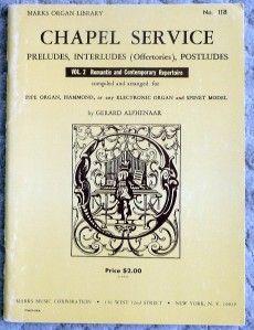 Prelude Postlude Organist Church Music Organ Piano Sheet Book