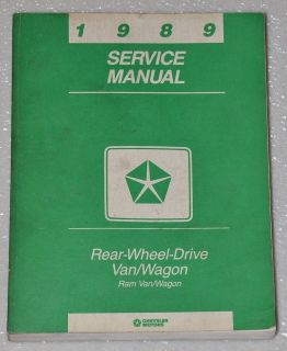 1989 Dodge RAM Van Wagon B100 B150 B250 B350 Cargo Passenger Shop