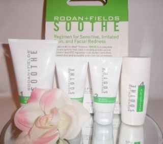 Fields Soothe Regimen Redness / Sensitive Irritated Skin 4pc Set Kit