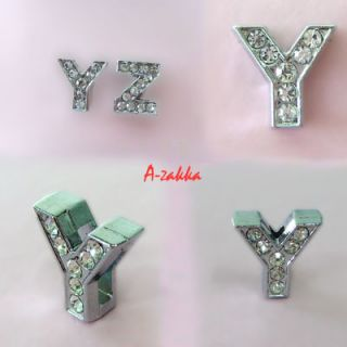 Dog Pets Collar Rhinestone Slide 11mm Alphabet Letter Y