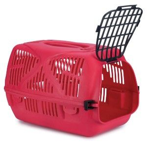 ProSelect Classic Pet Dog Plastic Carrier Crate Crimson