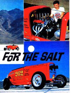 Vintage Gasser DRY LAKES BONNEVILLE SALT FLATS ROADSTERS LAKESTERS