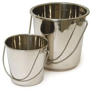 Stainless Steel Bucket Water Pail Dog 2 Quart