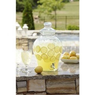 Gallon Glass Beverage Dispenser Decanter Jar