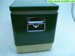 Coleman 74 Green Metal Cooler Ice Chest w/ Bottle Openers and Drain