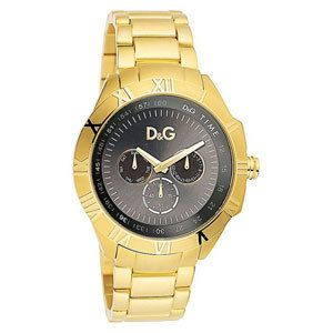 Dolce and Gabbana Mens Gold Tone Watch with Day/Date DW0653