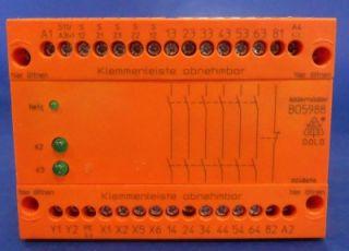DOLD + SOHNE 230VAC/24VDC SAFEMASTER SAFETY RELAY BO5988.61/024/61