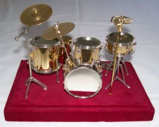Miniature Drum Set with Plastic Cover 5 Piece 6 Tall