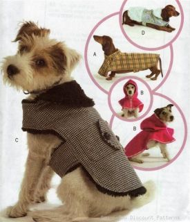 Dog Puppy Clothes Coat Costume Pattern Red Riding Hood