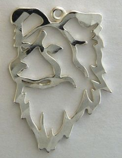 Border Collie Dog Head Pin Tie Tac Charm Earrings Necklace Silver