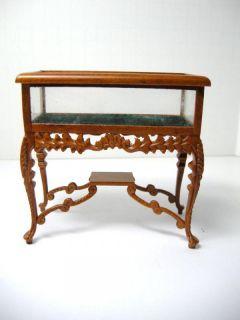Dollhouse Miniature Famous Furniture 2820 Walnut Finish Display Case