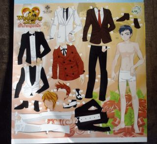 Paper Doll / Dress up doll paper toys Man Boy Girls Angel Fairy wing