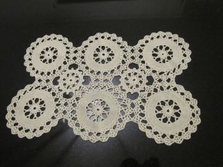 Vtg Table Runner Dresser Doily Piano Scarf Romantic Handmade Cottage