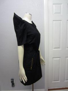 NWT Aryn K. Dillards Womens Navy Pinstripe Zip Front Drawstring Waist