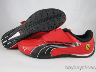Puma Drift Cat Alt Closure SF Ferrari Rosso Corsa Red Black Velcro