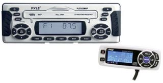 Pyle 1 5 DIN Weather Band Marine Radio CD  Receiver
