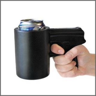 FAKE GUN   Beer & Soda bottle can drink COOLER sleeve wrap holder