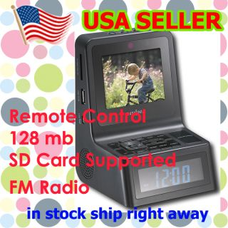 Dual Alarm Clock Radio 3 5 Photo Display with Remote