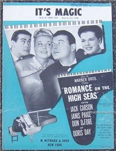Its Magic from Romance on The High Seas with Doris Day 1948 Sheet