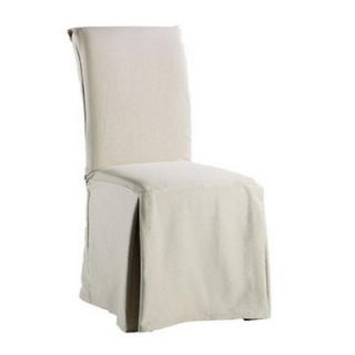 twill supreme long dining room chair cover flax dinner time spills and